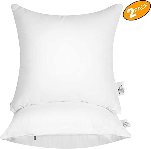 EOMTAM 20×20 Pillow Inserts Set of 2 – Couch Pillows with 100 Cotton Cover 20 x 20 ,2Pack
