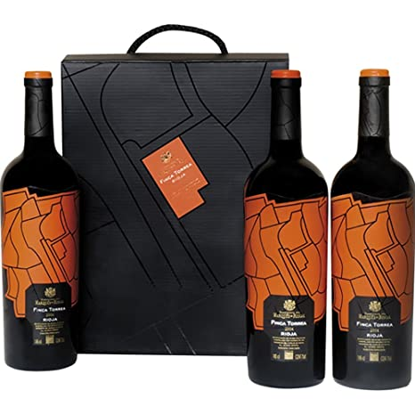 ESTUCHE DE CARTON 3 BOTELLAS FINCA TORREA: Amazon.es ...