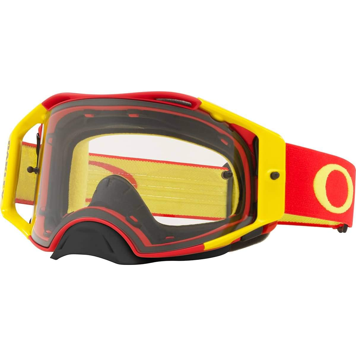 Oakley Airbrake MX Adult Off-Road Motorcycle Goggles - Red Yellow/Clear