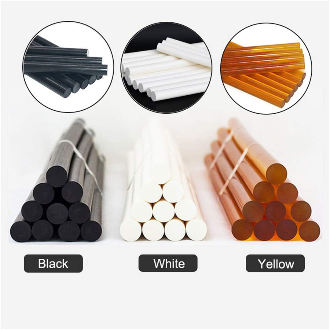 Hot Melt Glue Stick 10Pcs 11X300mm Black White Yellow Glue Stick 150 Degree High Temperature Resistant Hot Glue For 11Mm Glue G 11mm White(11x290mm)