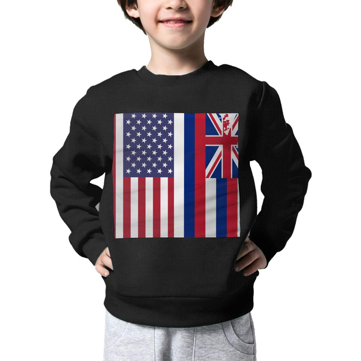 NJKM5MJ Boys Girls American Hawaii State Flag Lovely Sweaters Soft Warm Unisex Children Kids Sweater