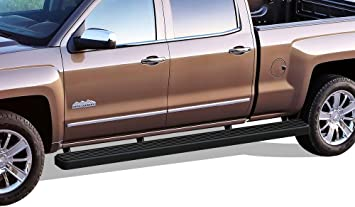 """FIT 07-18 CHEVY SILVERADO GMC SIERRA CREW CAB 6/"""" SIDE STEP RUNNING BOARD BAR S//S"""
