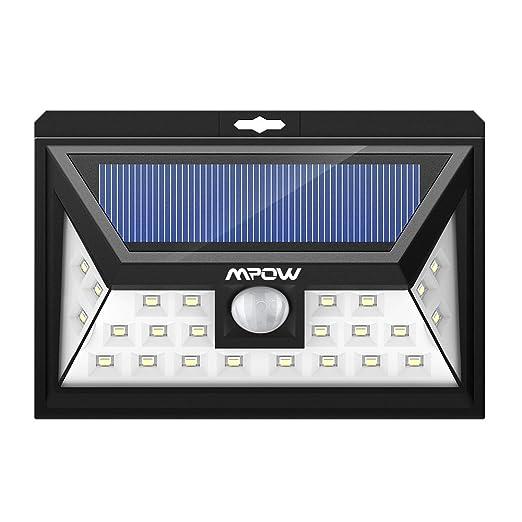 363 opinioni per Luci Solari Mpow Lampada Wireless ad Energia Solare da Esterno Impermeabile con