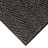 NoTrax 118 Arrow Trax Entrance Mat, for Main Entranceways and Heavy Traffic Areas, 3' Width x 10' Length x 3/8'' Thickness, Charcoal