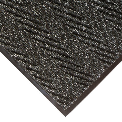 NoTrax 118 Arrow Trax Entrance Mat, for Main Entranceways and Heavy Traffic Areas, 4' Width x 6' Length x 3/8'' Thickness, Charcoal