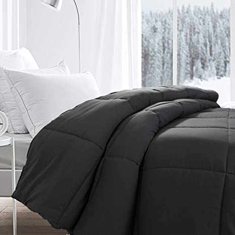 authentic quality good out x stable quality Besfor Grey Hotel Collection Luxury Down Alternative Quilted Twin Comforter  - All Season -Plush Microfiber Fill - Machine Washable -Stand Alone ...