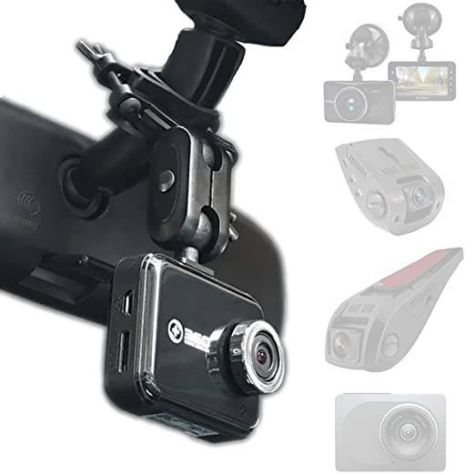 Dash Cam Mirror Mount   Fits Falcon F170 Hd,Rexing V1, Z Edge, Old Shark, Yi, Amebay,Kdlinks X1,Vantrue And Most Other Dash Cameras by Amor Tek