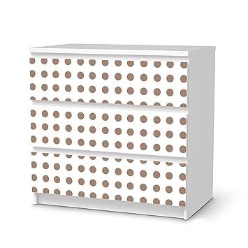 Ikea Malm Cassettiera 3 Cassetti.Mobili Adesivo Ikea Malm 3 Cassetti Design Adesivi Mono A Pois