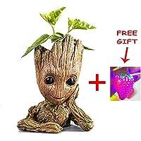 Asamoom Baby Groot Pot de Fleur - Figurine d'action Marvel de Guardians of The Galaxy pour Plantes et stylos - Parfait comme Cadeau - Je s'appelle BÉBÉ Groot