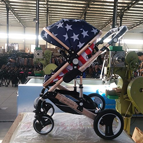 0--36 months baby stroller 2 in 1 stroller lie or damping folding light weight Two-way use four seasons (5)