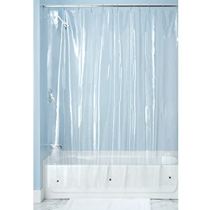 InterDesign Mildew Resistant Antibacterial 10 Gauge Heavy Duty Stall Shower Curtain Liner