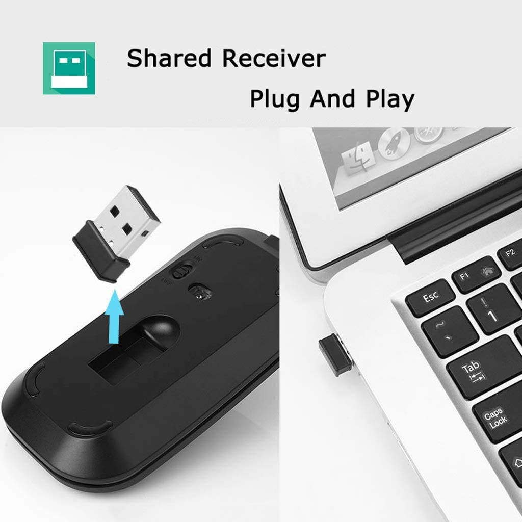 Color : Ivory White OUKB Metal Wireless Keyboard Mouse Set Apple Laptop Desktop MAC External Mute Charging Slim Portable
