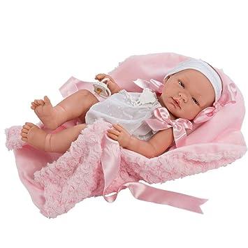 Amazon.es: Muñecas Así Muñeca Bebé María con mantita Rosa 43 ...