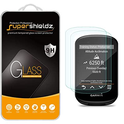 (2 Pack) Supershieldz for Garmin Edge 530 and Edge 830 Tempered Glass Screen Protector, 0.33mm, Anti Scratch, Bubble Free: GPS & Navigation