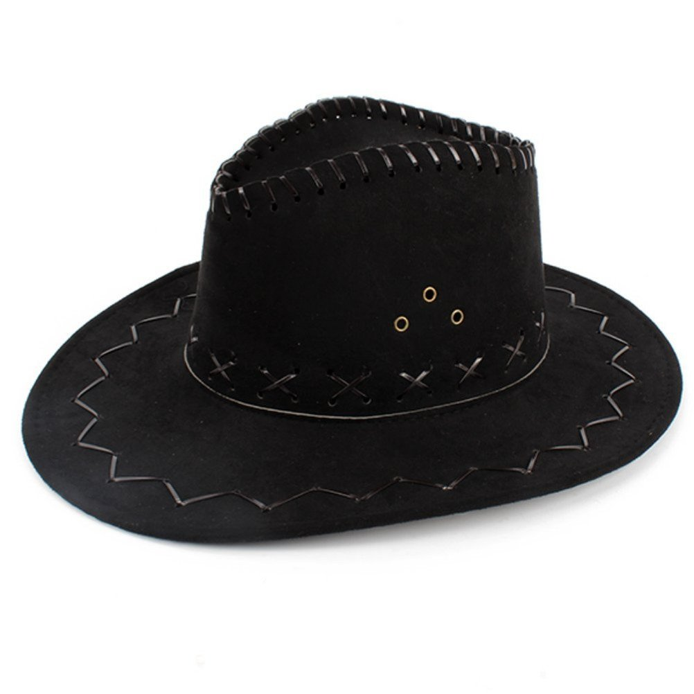 HMILYDYK Cowboy Hat Fancy Dress Accessory Wide Brim Western Cowgirl Hats  Wild West  Amazon.co.uk  Toys   Games 6a09fb709a2c