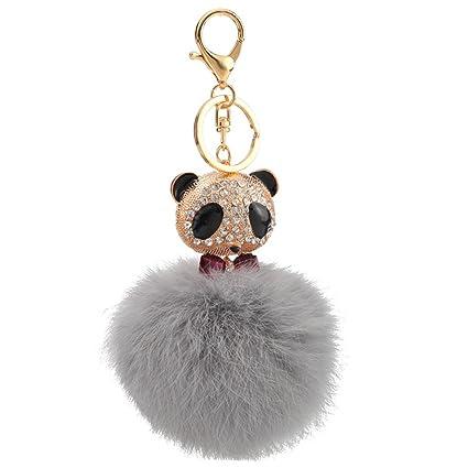 Mxixi - Llavero de peluche con diseño de panda y bolso de ...