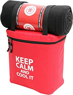Norländer Keep Calm Koeltas met Plaid Rood/Sac Isotherme avec Couverture Rouge