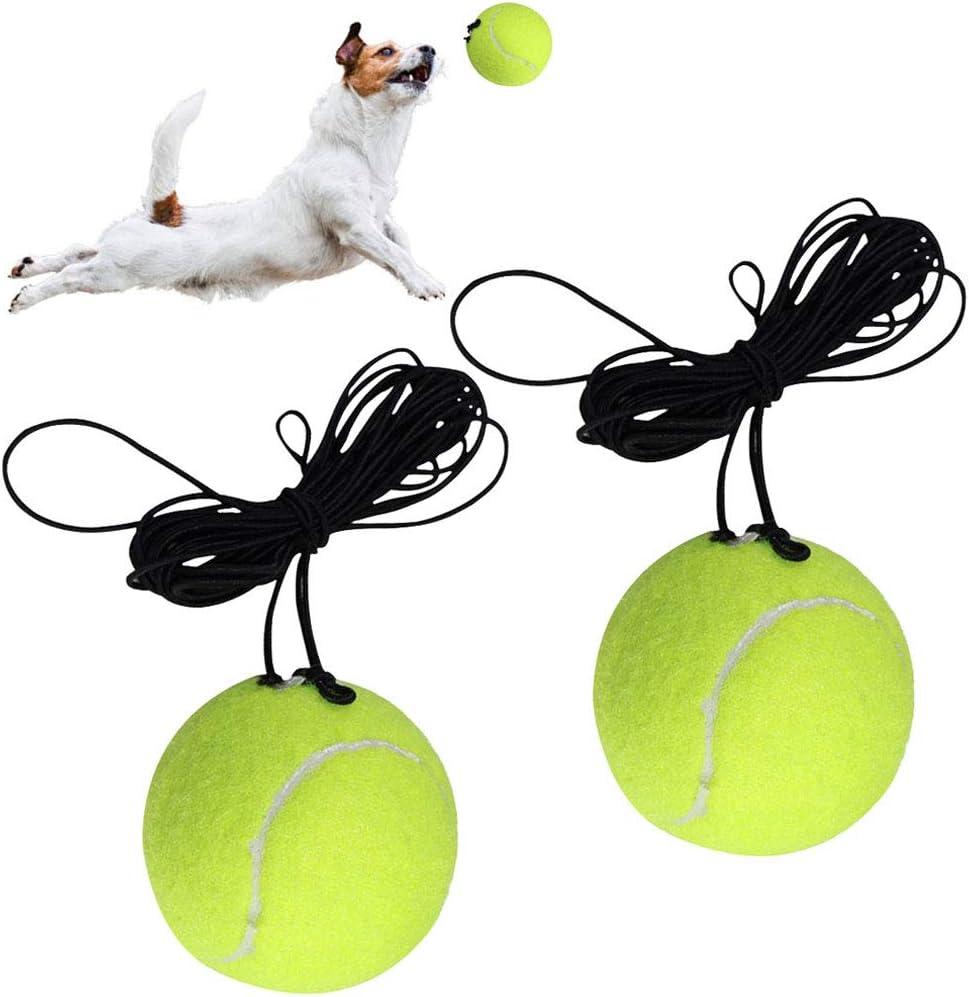 Fansport 2 PCS Entrenamiento Tenis,Entrenador de Tenis con Cuerda de Goma Adecuado para Principiante