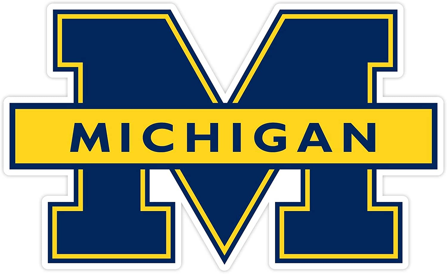 University of Michigan Wolverines Color Decal Sticker New You Pick Size Cornhole
