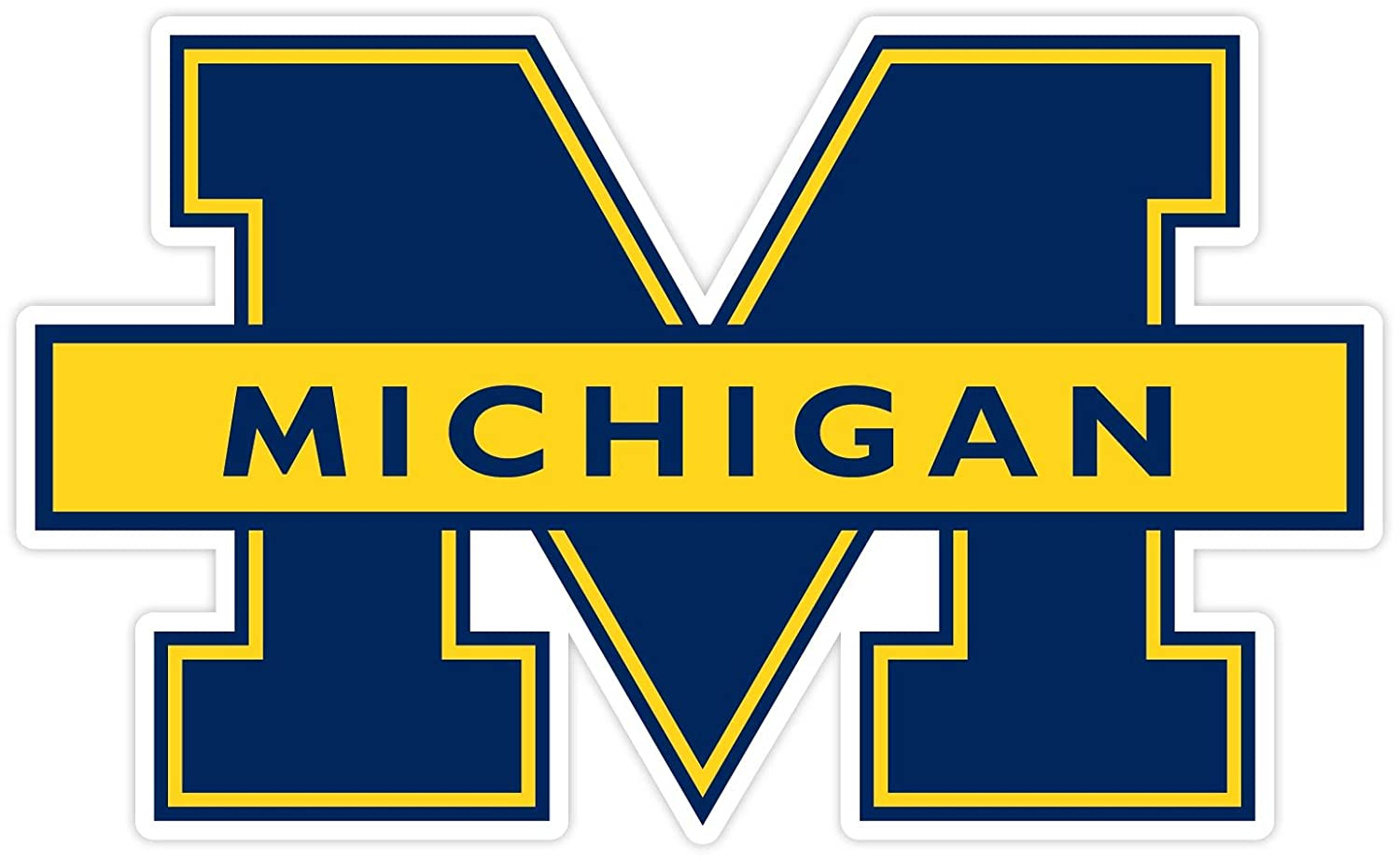 Michigan Wolverines NCAA Vinyl Sticker 8x 12 Decal Cornhole Wall