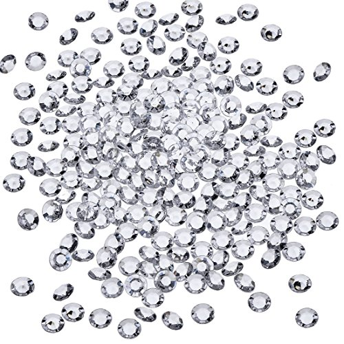 Pack of 5000 Acrylic Diamond Beads For Bursh Holder,Vase Filler, For Table Centerpiece,Wedding, Bridal Shower,Vase Beads Decorations 3mm (Clear)