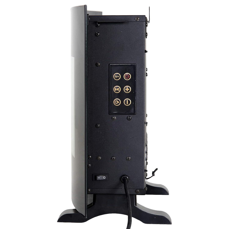 HOMCOM Chimenea El/éctrica de Pared Calefactor Estufa El/éctrica 750//1500W Temporizador Termostato Auto-Control Colores de Llama Ajustables Mando a Distancia 55x15.5x40cm