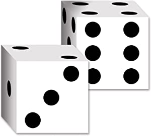 Beistle 2-Pack Dice Card Boxes, 6-1/2-Inch by 6-1/2-Inch