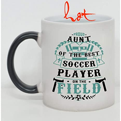 f90aec6473d Image Unavailable. Image not available for. Color: Funny Soccer Player's  Aunt Cup, Proud Aunt Of The Best ...