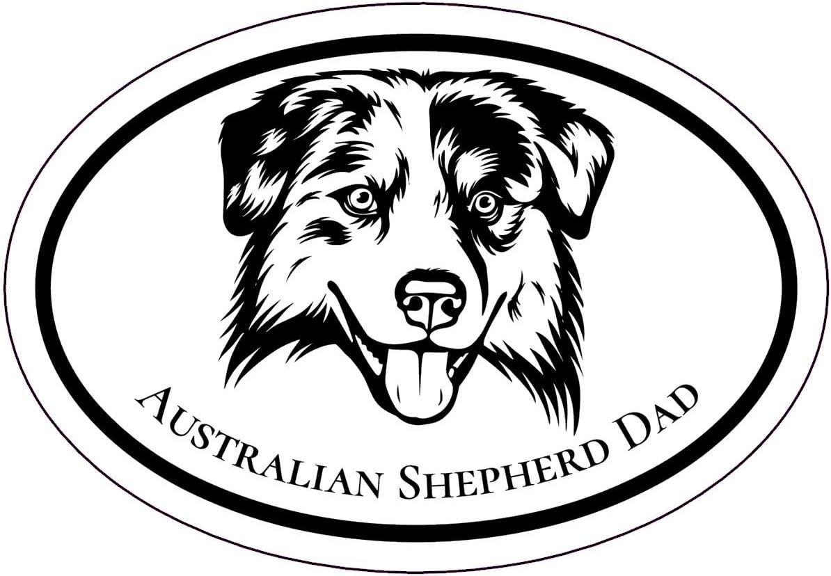 Dog Bumper Sticker WickedGoodz Oval German Shepherd Mom Decal Shepherd Breed Mom Gift