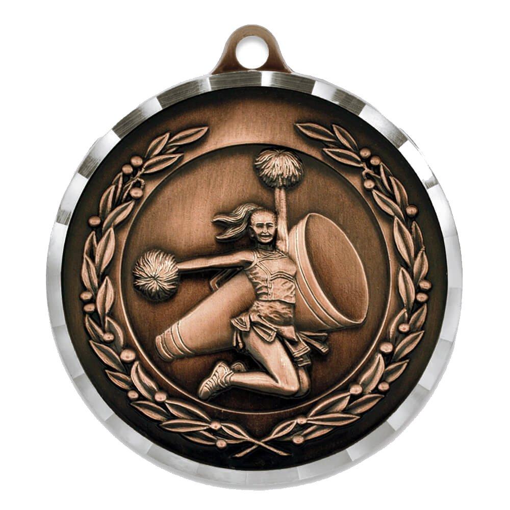 Cheer AwardスポーツバルクMedal – ゴールド、シルバー、ブロンズ。 B0791LMWX6 ブロンズ 25 Pack