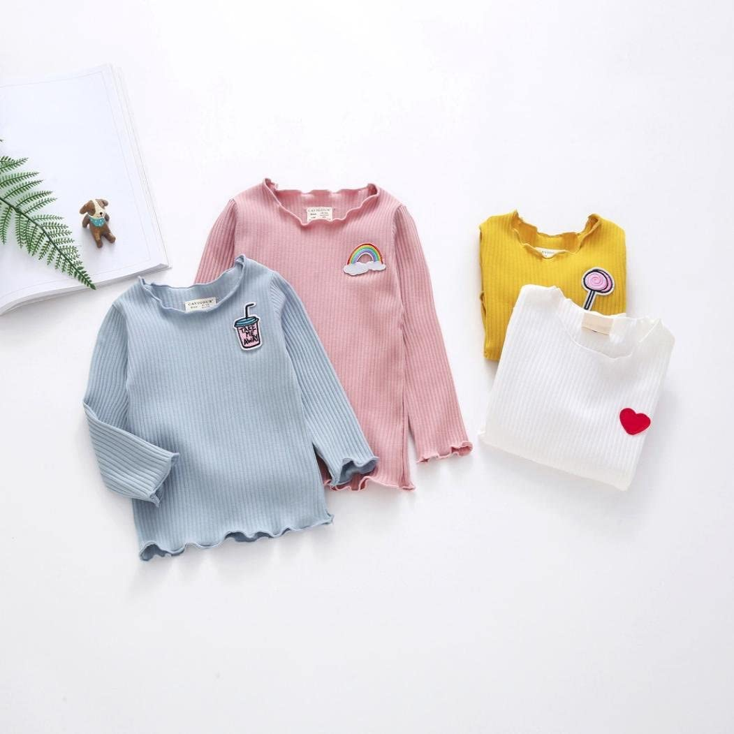 Gotd Infant Toddler Baby Girl Solid T-Shirt Tops Clothes Winter Outfit