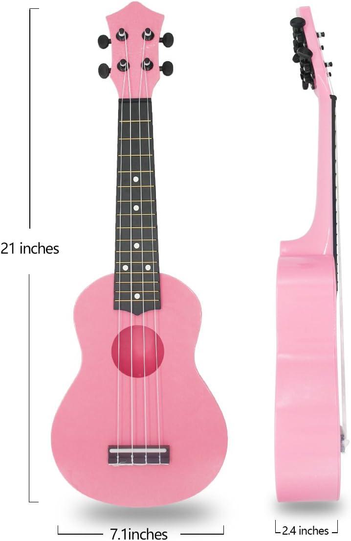 Actutech Ukelele soprano para guitarra infantil de 21 Inch para ...