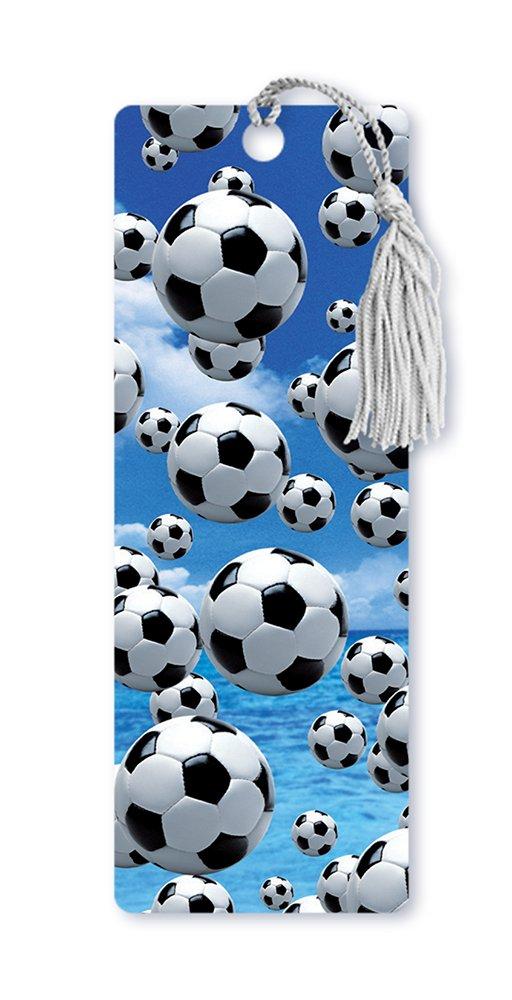Dimensión 9 Lenticular 3d marcapáginas fútbol con borla, pelotas de fútbol marcapáginas (lbm088) f69abb
