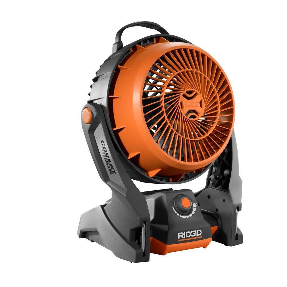 Ridgid R860720b Gen5x 18 Volt Hybrid Cordless Amp Corded Fan