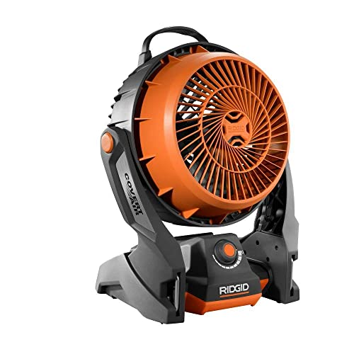 Ridgid R860720B GEN5X 18-Volt Hybrid Cordless Corded Fan Battery and Charger Not Included