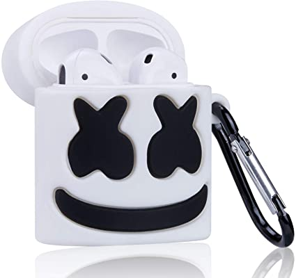 Amazon Com Gudcos Case For Airpods Funny Cute Cartoon Silicone