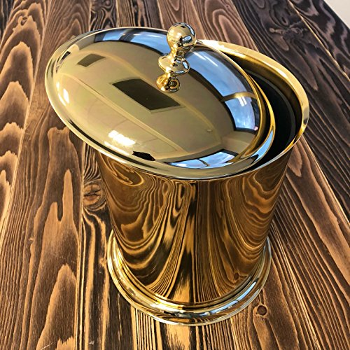 Bathroom Brass Trash Can-Brass Waste Bin-Brass Decorative waste paper basket-Decorative Trash Can-Bathroom Accessories (Owl Trash Can Bathroom)