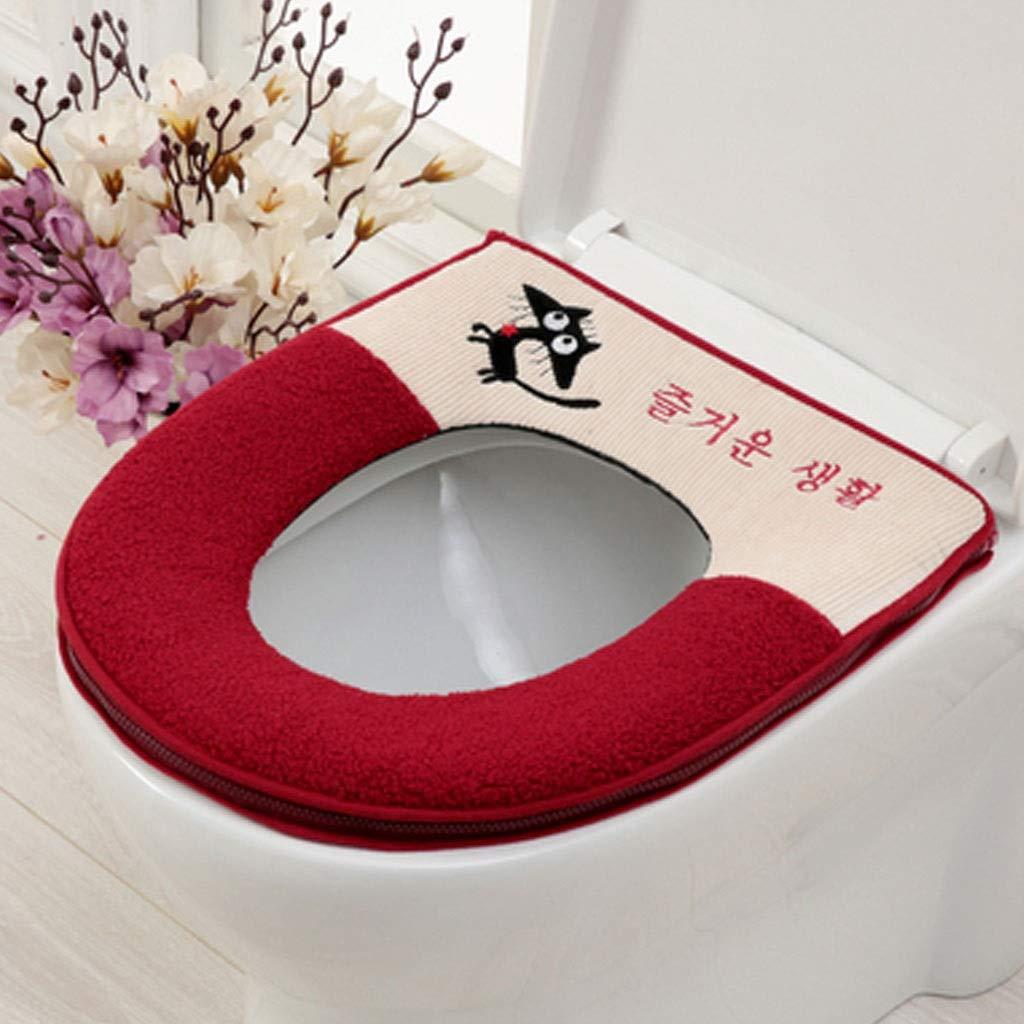 YS-FeiTeng Toilet seat Cushion Toilet seat Household Toilet seat Zipper Section Thickening Toilet seat Toilet seat Cushion Universal Toilet seat Toilet seat Cartoon (Color : C) by YS-FeiTeng