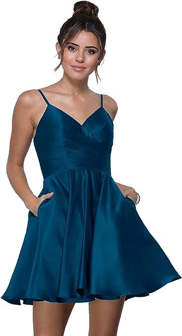 Beauty Bridal Junior s V Neck Homecoming Dress Satin Prom Dresses Short  2019 Z03 b977fee85