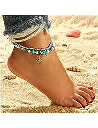 Women Girls Fashion Anklet Turtle Starfish Beach Sandals Foot Chain Bracelet