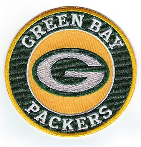 Green Bay Packers G Round Iron-on Football Jersey Patch 4