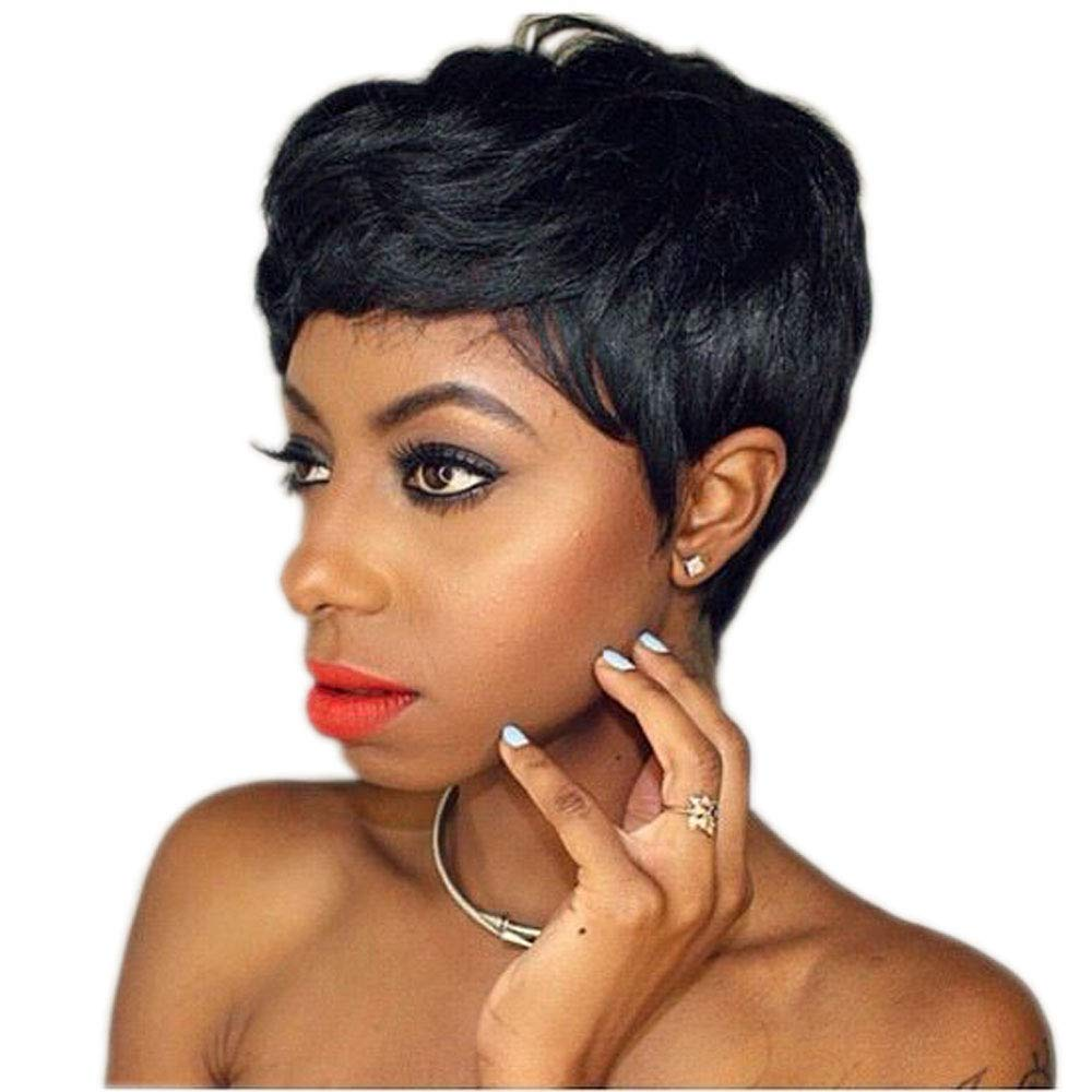 Amazon Wtb Hair Natural Black Hair Wig Short Wigs For Black