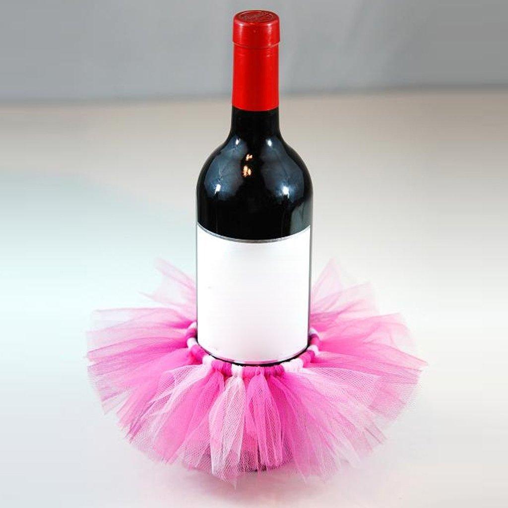 Amazon.com: MonkeyJack Handmade Tulle Wine Bottle Tutu Skirt Bottle ...
