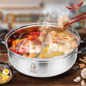 CHXIHome Gas Stove Compatible Pot, Compatible Separator Kitchen Kitchen Supplies Induction Cooker Electric Cooking Pot, Soup Stock Pot, Hot Pot