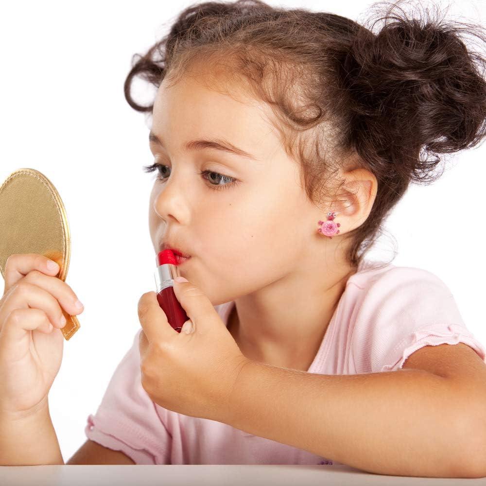 Ensemble de boucles doreilles pour enfants en D/étachant en argile hypoallerg/énique mignon Boucles doreille /à tige color/é Minihope Filles Bijoux