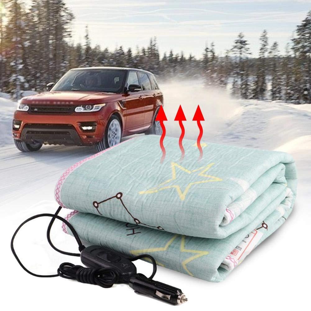 colore casuale coperta per riscaldamento elettrica per auto 12V 24V con accendisigari Coperta riscaldante in velluto caldo a bassa tensione per viaggi basse temperature Coperta elettrica per auto