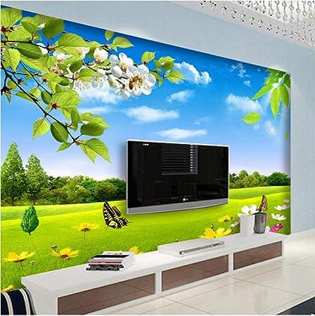 Foto Murales Blue Sky Meadow Scenery Papel pintado decorativo no tejido sin costuras para sala de estar Dormitorio Restaurante 450cm(W) x350cm(H)-9 Stripes: Amazon.es: Bricolaje y herramientas