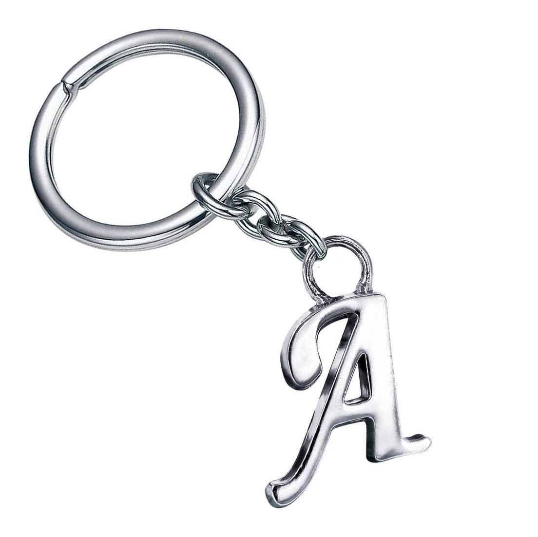GCT Alphabet Letter A Metal Keychain for Car Bike Men Women Keyring  (Silver)  Amazon.in  Bags 4357a51a5c