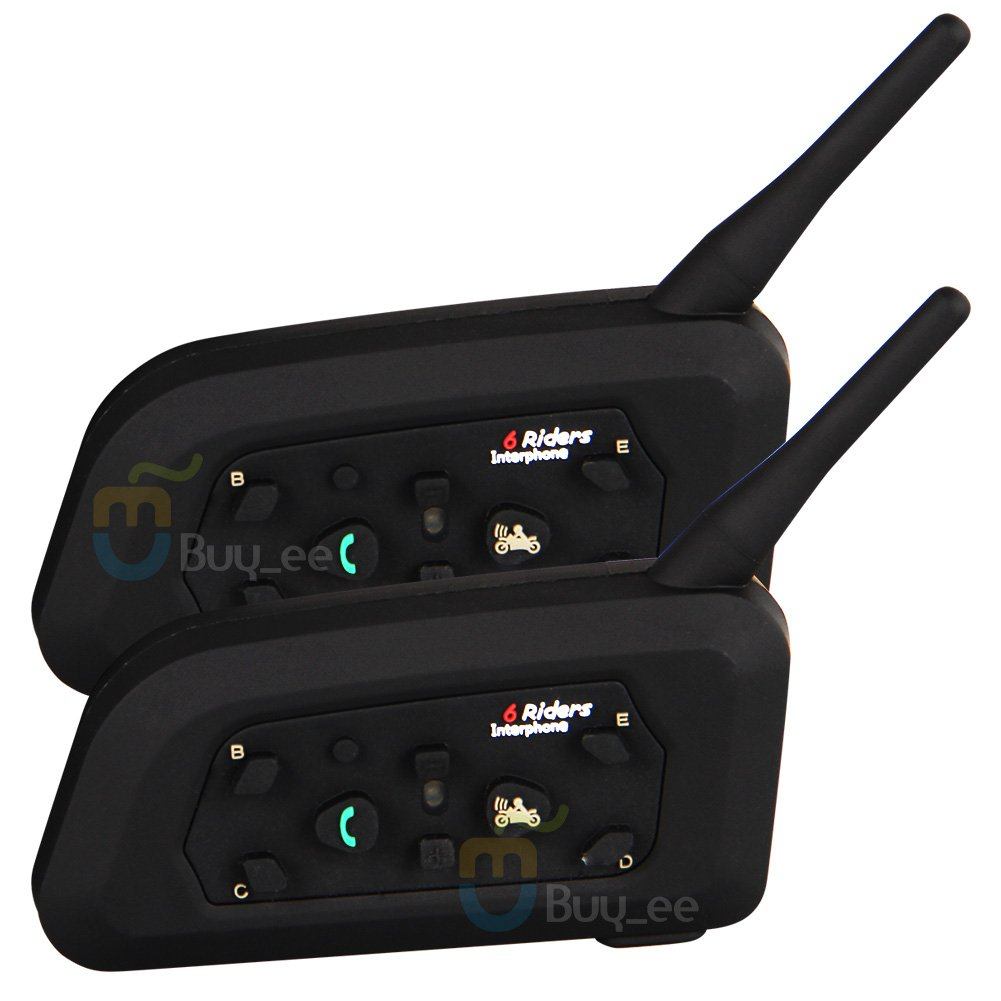 Buyee 2 X Bt 1000m Motorcycle Helmet Bluetooth Intercom Headset Connects Upto 6 Riders by Buyee