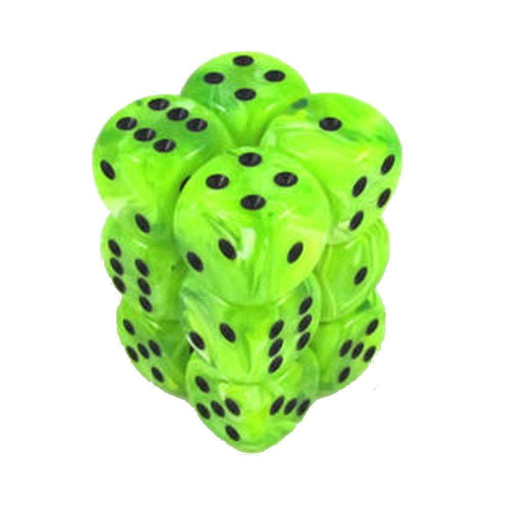 6-sided Dice :渦明るい緑色   B076Z8JGMG